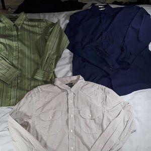 3 button up dress shirts